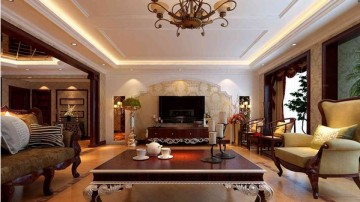 四居室欧式风格客厅 ...
