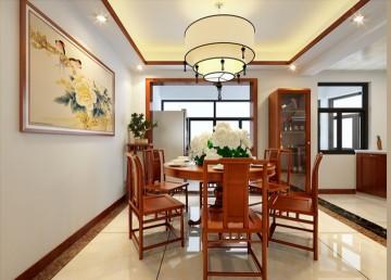 中式装修效果图—摩尔豪庭 1