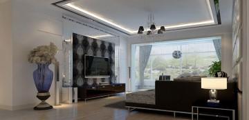 禹洲天境113平方米现代简约风格装修效果图