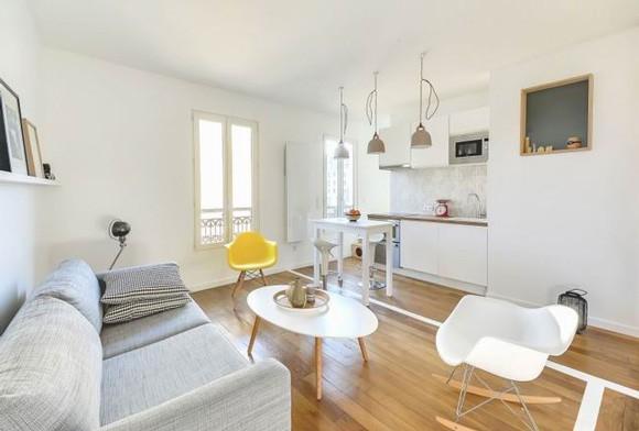 30平公寓舒适客厅效果图