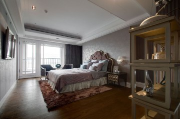 四居室美式风格浪漫 ...