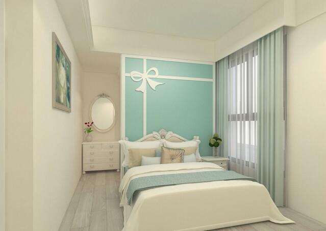 91平米白色简约三居室装修设计效果欣赏