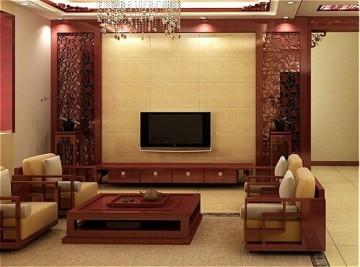 小户型中式风格客厅 ...
