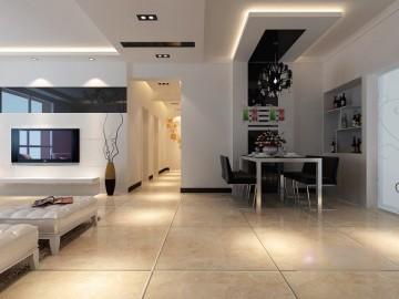 极度现代简约客厅装 ...