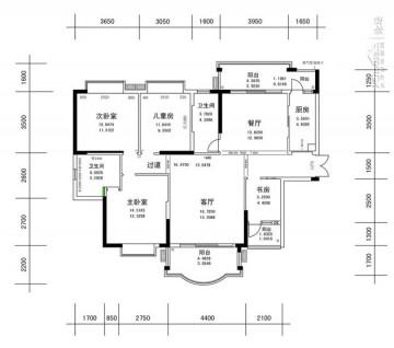 新中式三居室设计效 ...