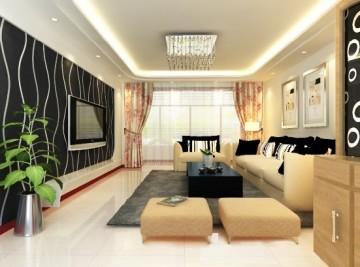 小户型现代客厅装修 ...