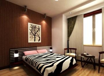 简单中式小户型卧室 ...