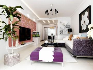 现代风二居室装修设 ...