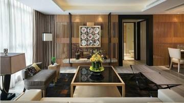 现代中式二居室客厅 ...