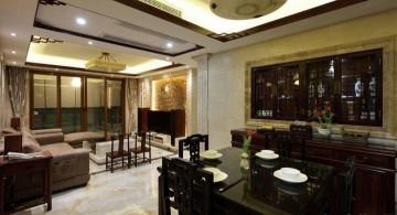 现代中式两居室客厅 ...
