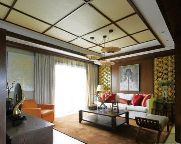 现代风格四居室客厅 ...