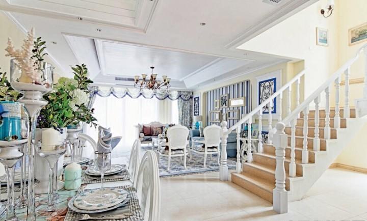 奢华地中海风格别墅客厅装修设计图片