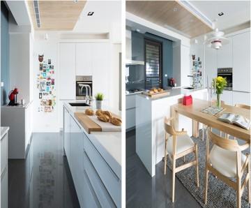 开放式小户型简约北欧风格家庭装修效果图