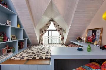 简洁大方北欧风格小阁楼装修效果图