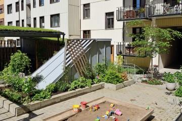 瑞典独享露台三居北欧风装修效果图