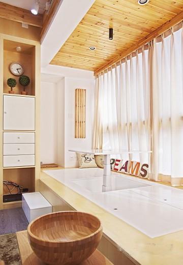 70平米日式素雅家居设计0