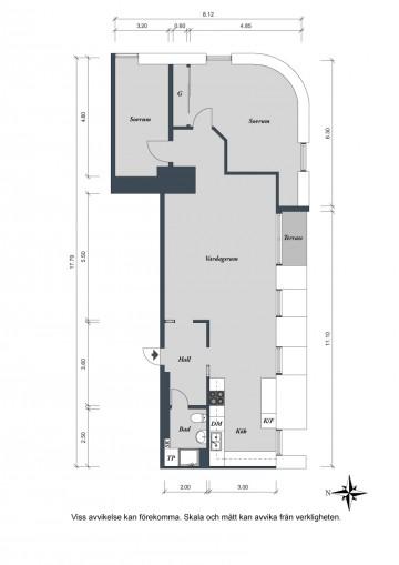 白色原木系北欧风格三居装修效果图