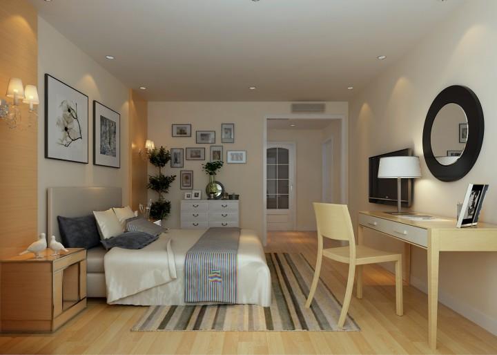 现代简约日式风格二居室装修效果图