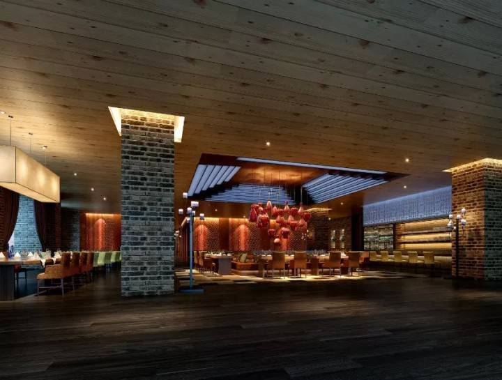 现代餐厅饭店装修效果图