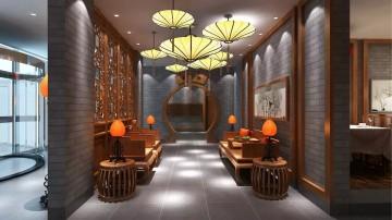 古典风格饭店工装装修图片欣赏0