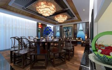 中式古典风格餐厅工装效果图