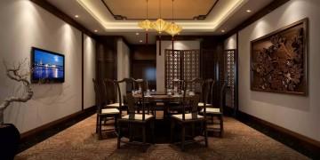 现代中式饭店装修设计效果图