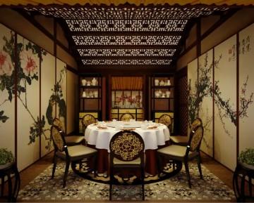 中式古典风格会所装修效果图