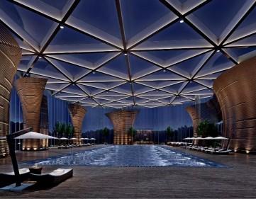 高级酒店游泳池装修效果图