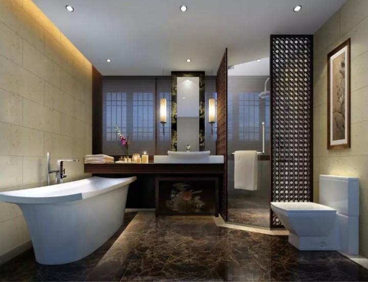 中式风格会所装修装饰效果图