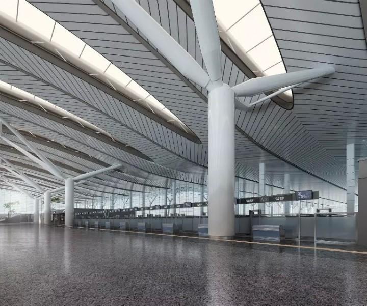 飞机场室内装修效果图欣赏