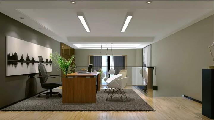 现代简约风格办公室装修效果图