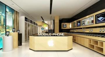 现代时尚手机专卖店装修效果图0