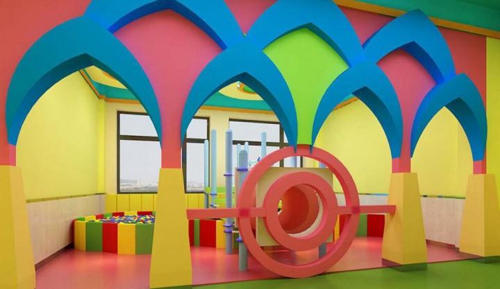 色彩丰富幼儿园装修布局效果图