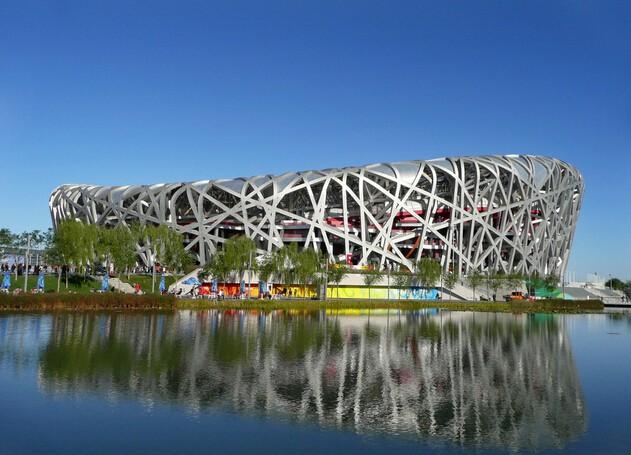 国家体育馆外观设计效果图