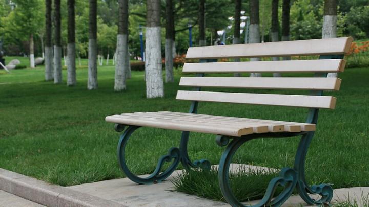现代公园休闲椅设计效果图