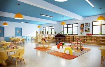 可爱幼儿园大厅装修图0