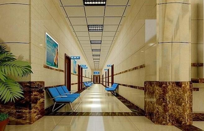 现代简约医院走廊装修效果图