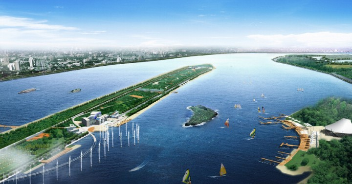 现代城市公园景观设计效果图
