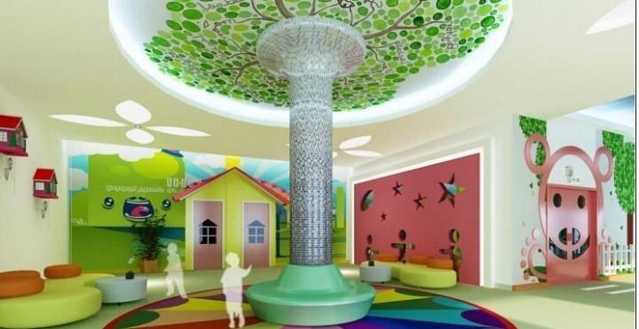 梦幻幼儿园室内吊顶装修效果图