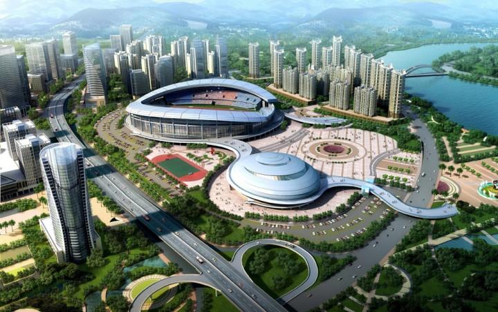 城市体育馆建筑设计效果图