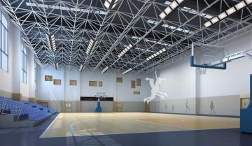 学校体育馆室内装修效果图