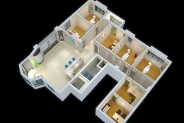 医院装修3D效果图0