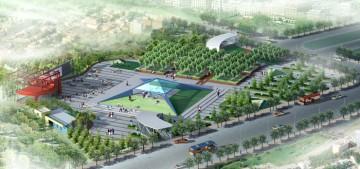 广场设计方案效果图0