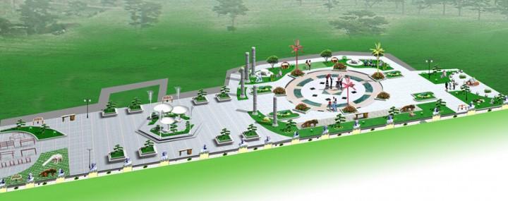 城市市民广场规划设计效果图