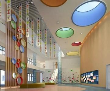 幼儿园大厅装修设计效果图