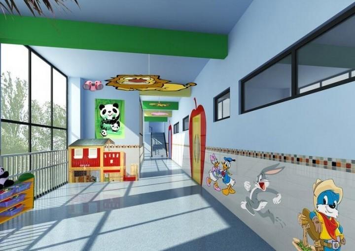 幼儿园走廊墙壁装饰效果图