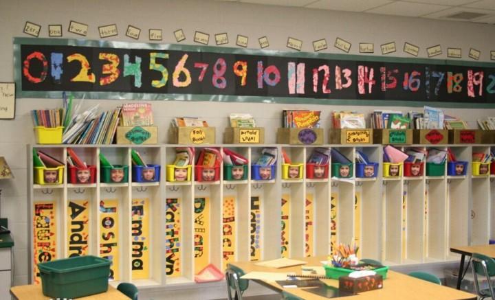 幼儿园中班教室墙壁装修效果图