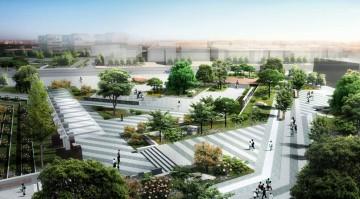 城市市民游憩广场设计效果图