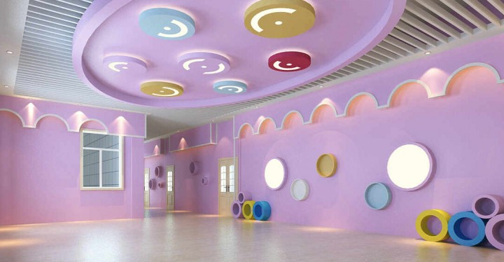 创意幼儿园墙面装修装饰效果图