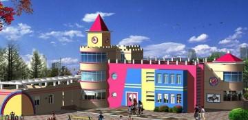 大型幼儿园外观设计效果图